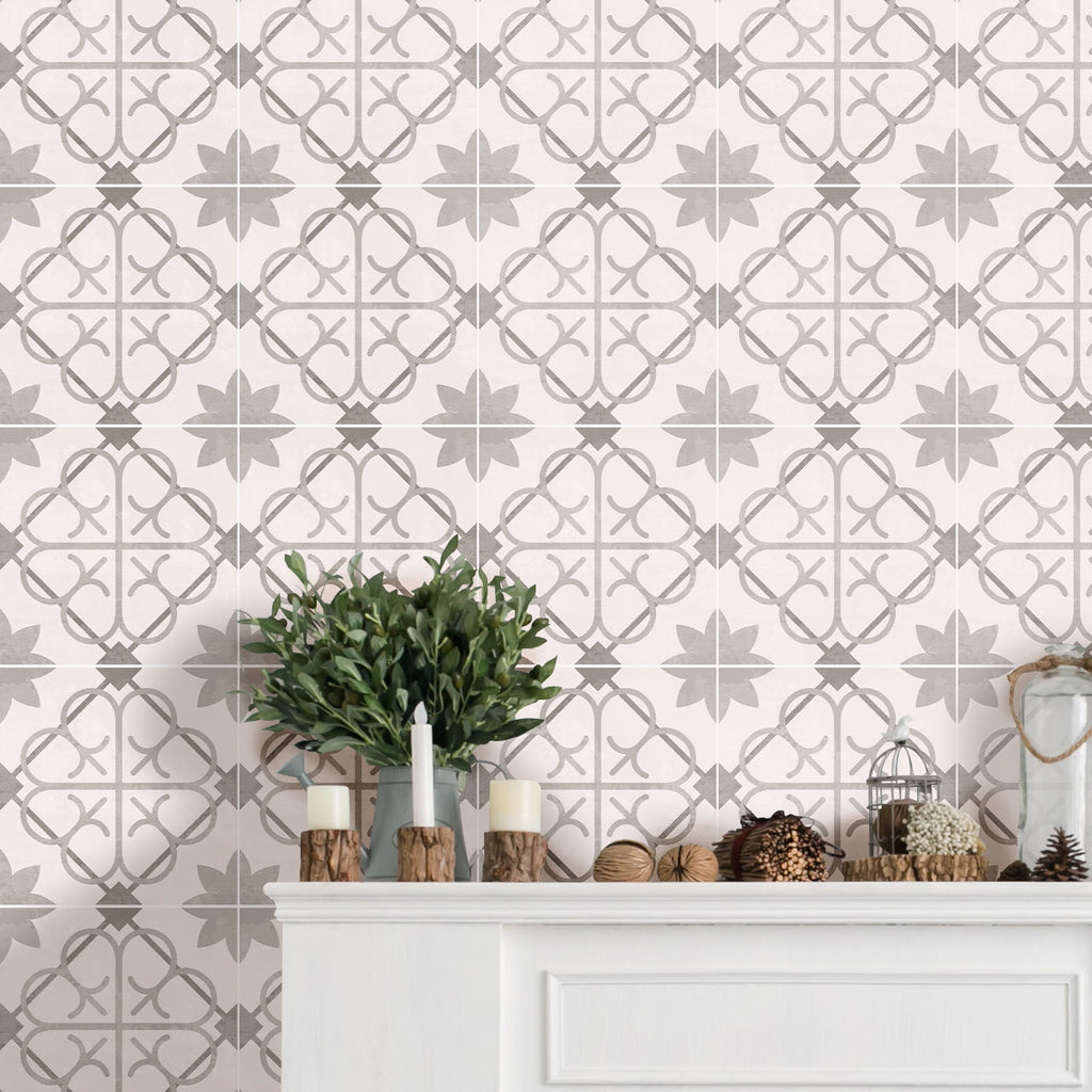 Madeira Grey Tile Decals Set - PACK OF 24