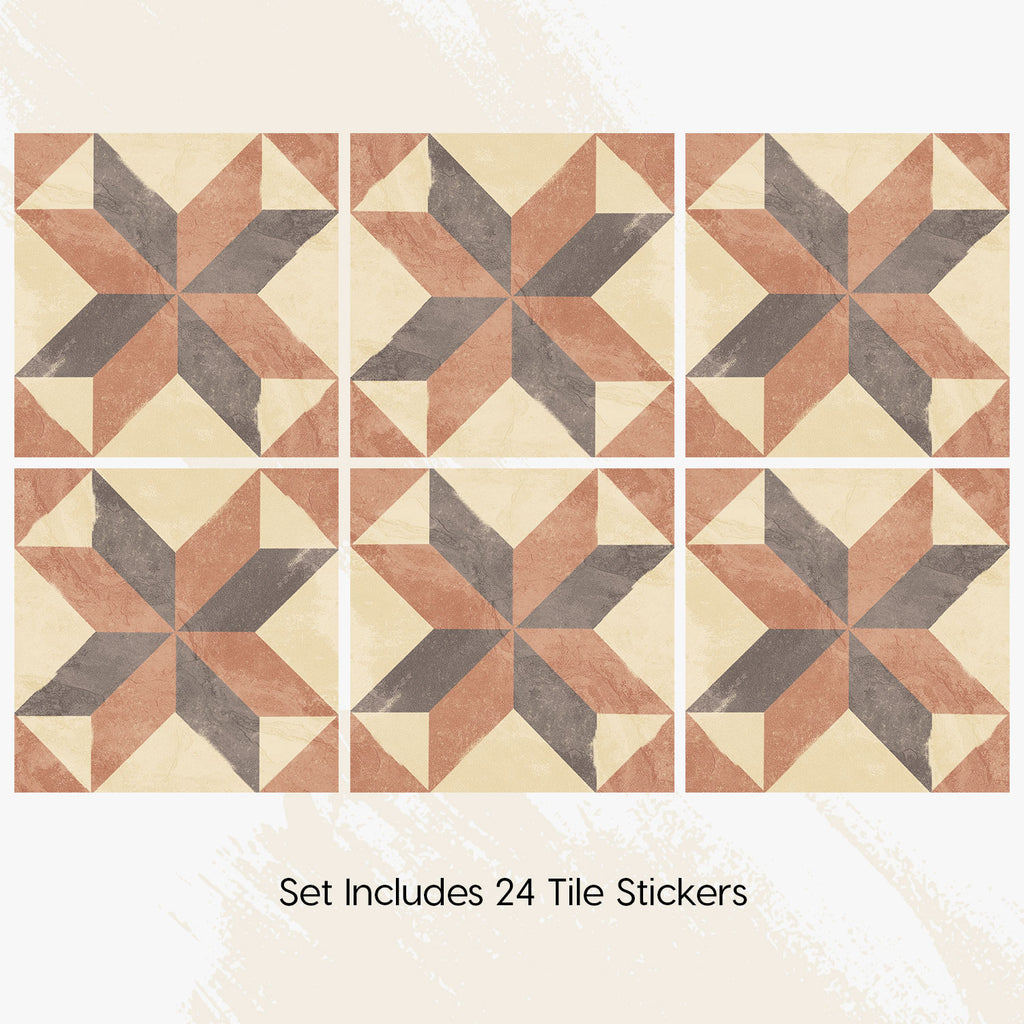 Siena Tile Decals Set - PACK OF 24