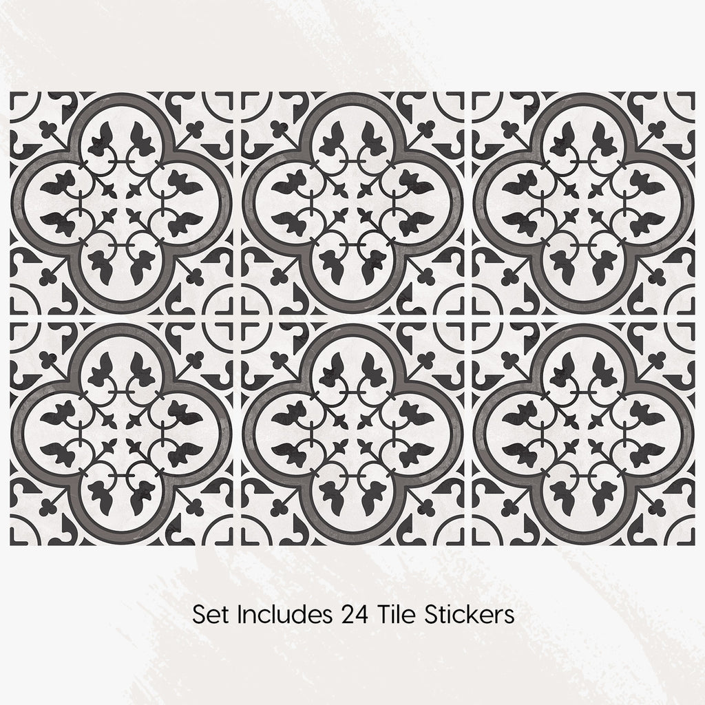 Moroccan Limestone Tile Decals - Tile Stickers Set for Kitchen and Bathroom - PACK OF 24