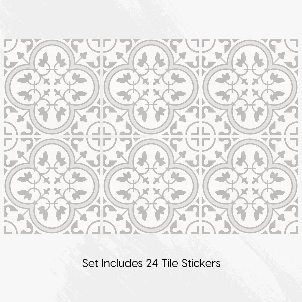 Moroccan Neutral Tile Decals Set - PACK OF 24