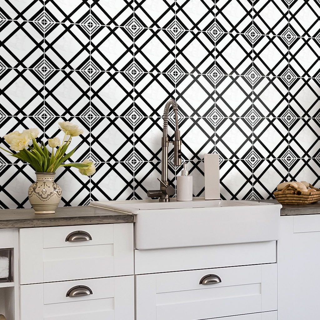 Studio Black Tile Decals Set - PACK OF 24