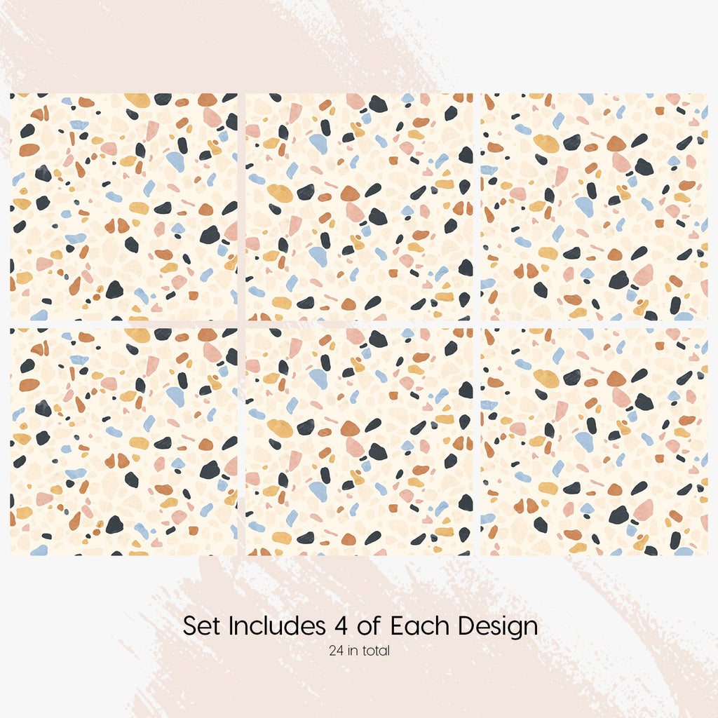 Terrazzo Tile Decals Set - PACK OF 24