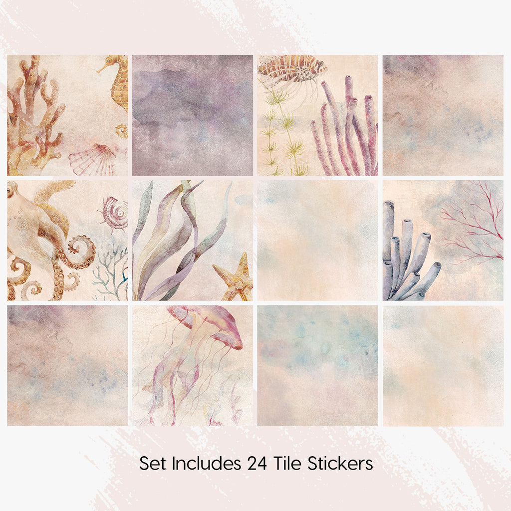 Underwater Tile Decals Set - PACK OF 24