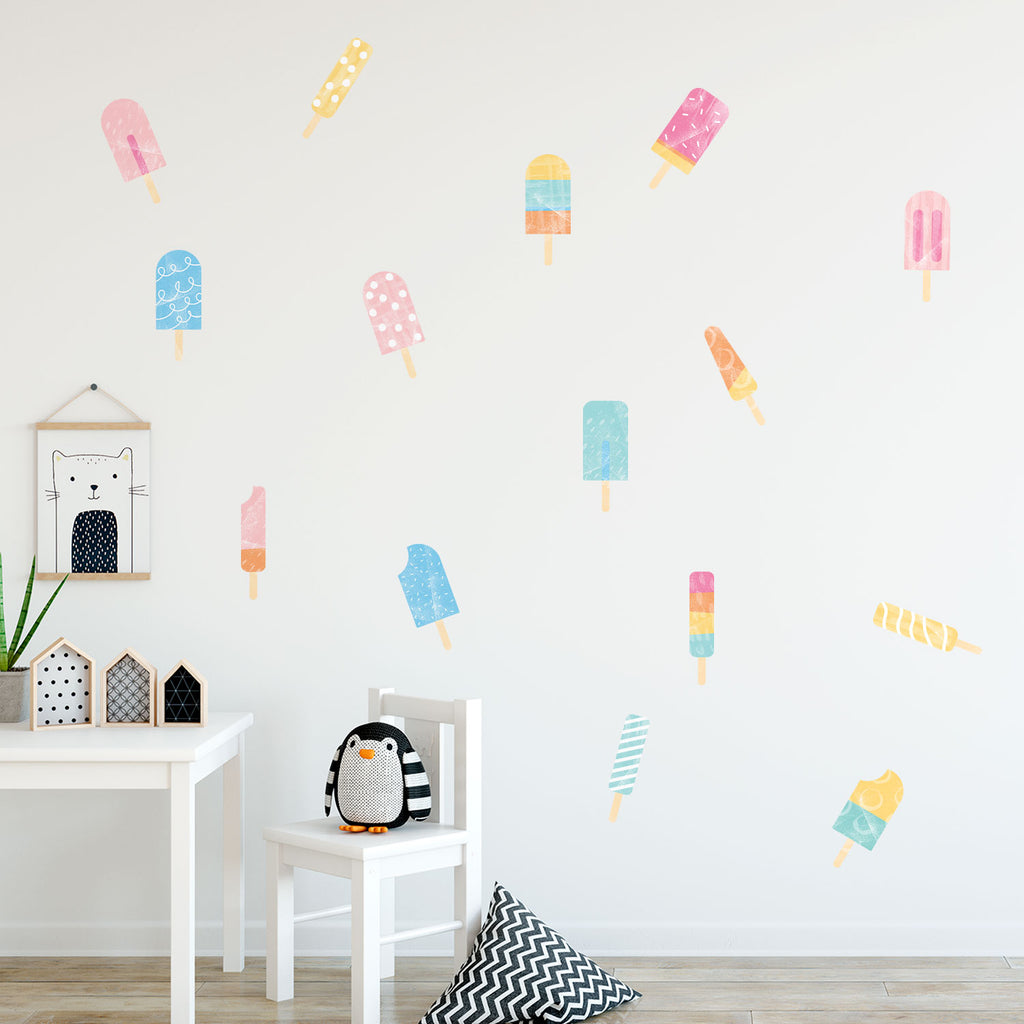 Popsicle Fabric Wall Stickers
