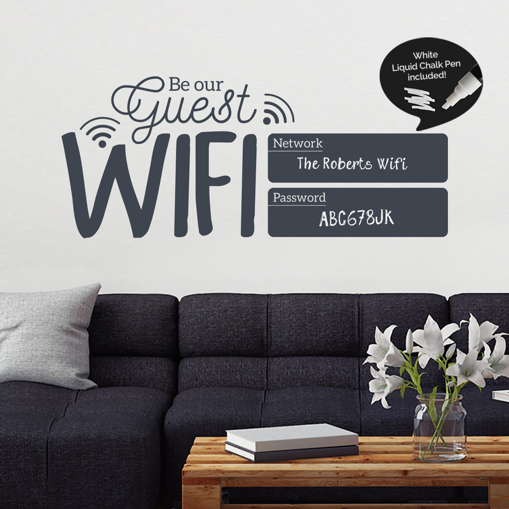 Chalkboard Wifi Password Sign