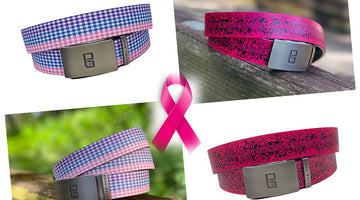 Colorful Buca Belts will be donating 20% Of All Proceeds of The Gingham belt and the Pink Chaos belt to The National Breast Cancer Foundation