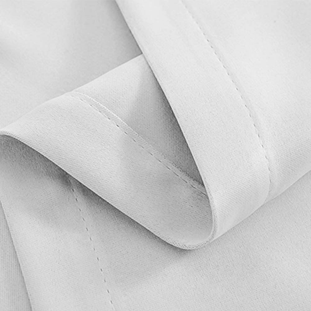 Artqueen 2X Pinch Pleat Pleated Blockout Curtains White 240cmx230cm