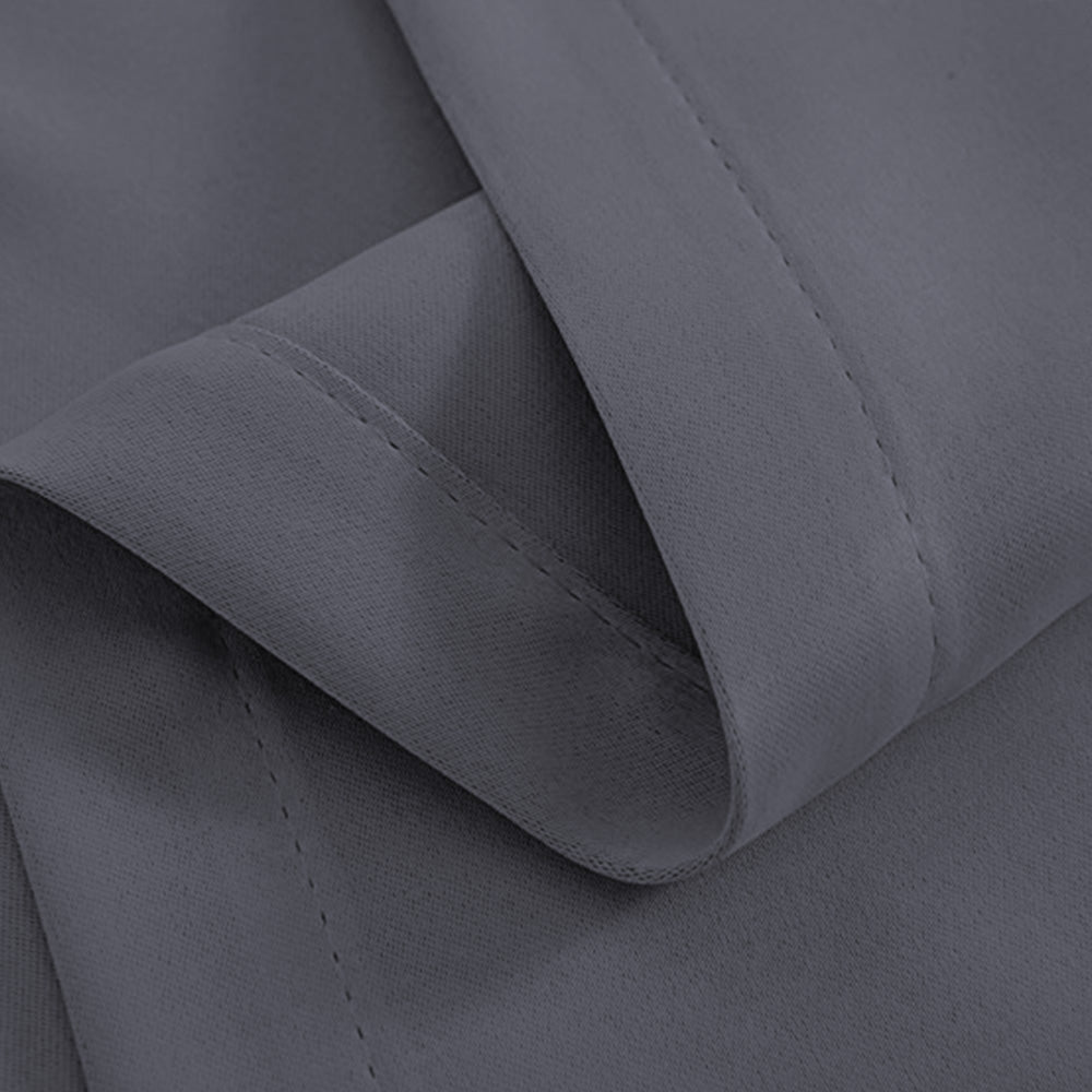 Artqueen 2X Pinch Pleat Pleated Blockout Curtains Dark Grey 300cmx230cm