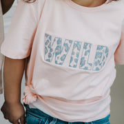 Girls T-Shirt - WILD (Pink with Blue/Silver)) | Branche Online Store | Melbourne