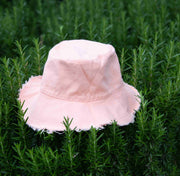 Monogrammed Peachy Cotton Bucket Hat - Branche Store