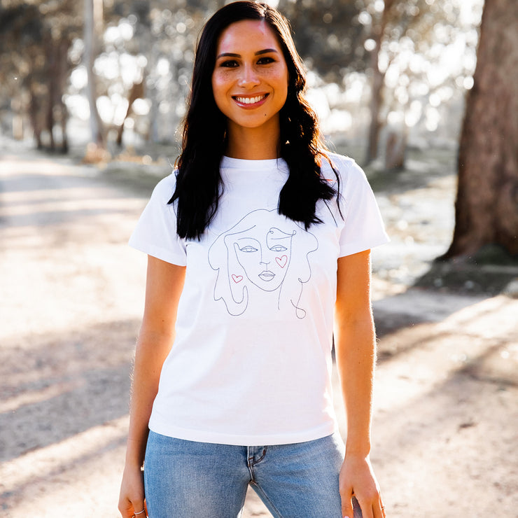 Lady Love White T-shirt | Branche Online Store | Melbourne