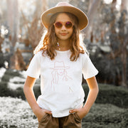 Boho Lady Latte on White T-shirt | Branche Online Store | Melbourne