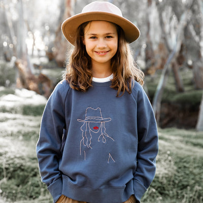 Girls Boho Girl Sweater Slate | Branche Online Store | Melbourne