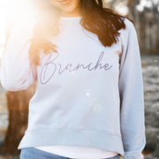 Women's Signature Sweater - Blue with navy detail | Branche Online Store | Melbourne