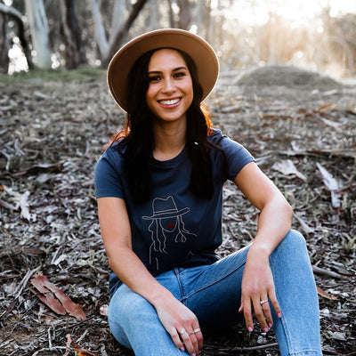Boho Lady Slate T-shirt | Branche Online Store | Melbourne