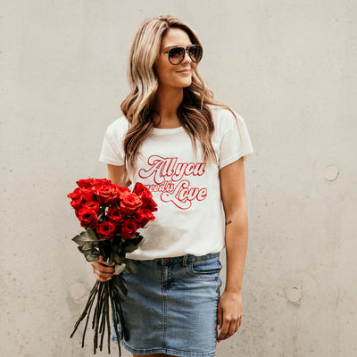 Women's T-Shirt - All you need is love - Branche Store
