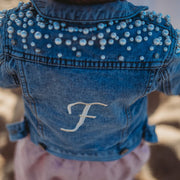 Monogram Girls Denim Jacket | Branche Online Store | Melbourne