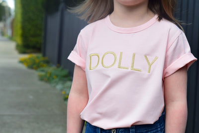 Girls T-Shirt - Dolly Pink with Gold | Branche Online Store | Melbourne