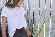 Girls T-Shirt - Dolly White with Pink | Branche Online Store | Melbourne