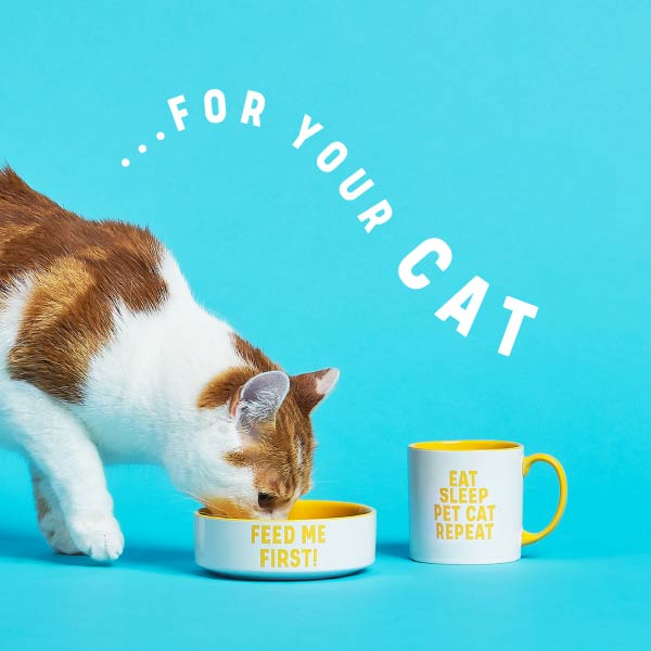 CAT MUG & PET BOWL