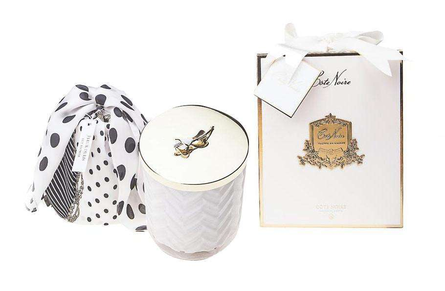 WHITE GOLDEN LILY CANDLE