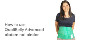 How to use QualiBelly Advanced Abdominal Binder - Video
