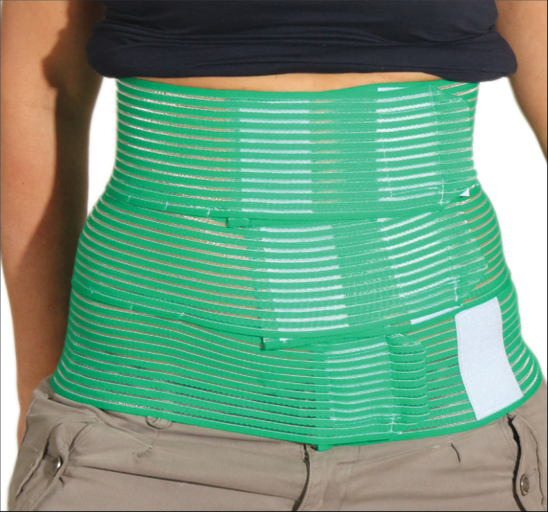 QualiBelly Advanced post surgery abdominal binder with drainage system
