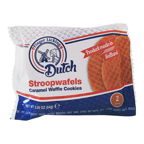 Finger Licking Dutch Caramel Stroopwafel Cookies 2-Pack