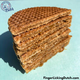 Dutch Blue Tin W/Caramel Stroopwafels with - Made in Holland