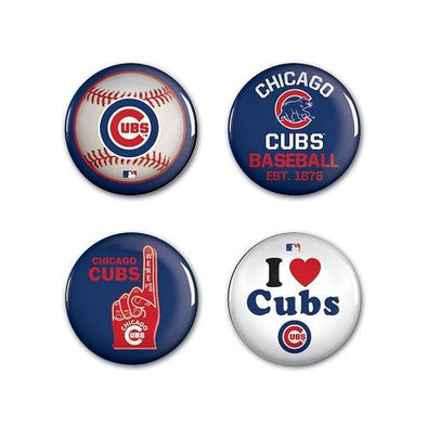 Chicago Cubs 4 pack Buttons