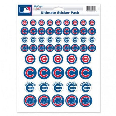 Chicago Cubs Vinyl Sticker Sheet 2