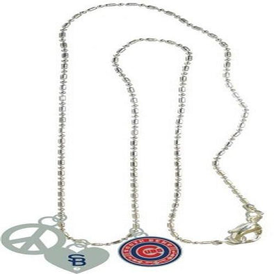 South Bend Cubs Necklace w/ 3 Charms