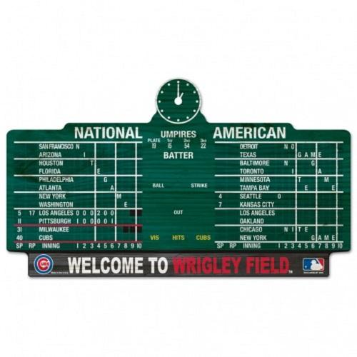 Chicago Cubs Scoreboard Sign  11 x 17""