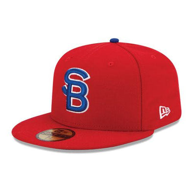 New Era 59Fifty South Bend Cubs On Field Red Cap