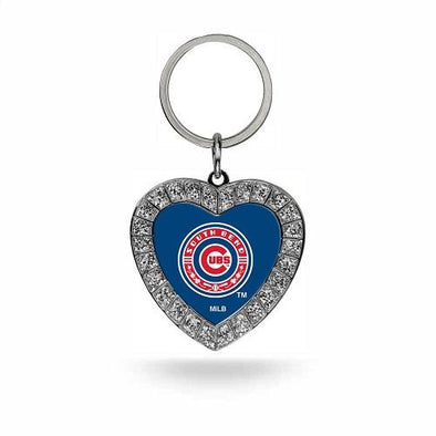 South Bend Cubs Heart Keychain