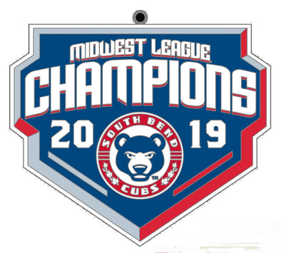 South Bend Cubs MWL Champions Christmas Ornament