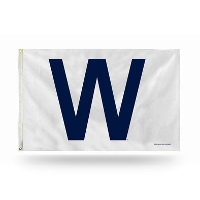 Chicago Cubs 3 x 5' Deluxe W Flag