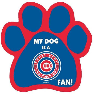 South Bend Cubs Paw Print Magnet