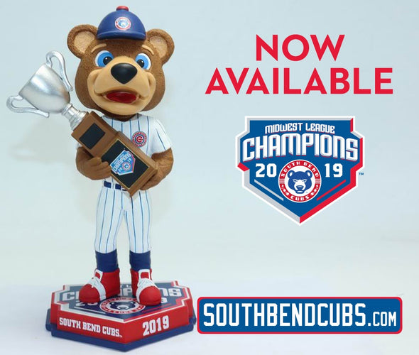South Bend Cubs MWL Champions Stu Bobblehead