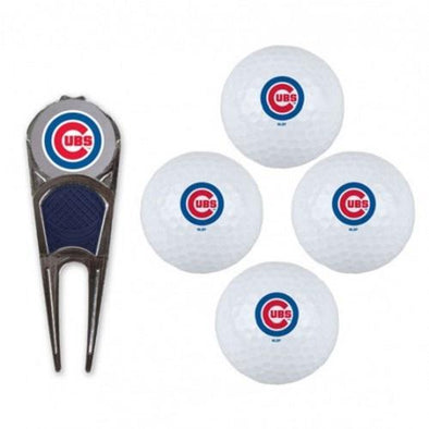 Chicago Cubs 4 pack Golf Ball Gift Set