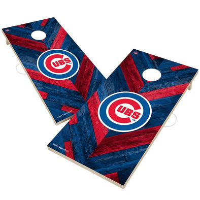 Chicago Cubs Herringbone Cornhole Board Set