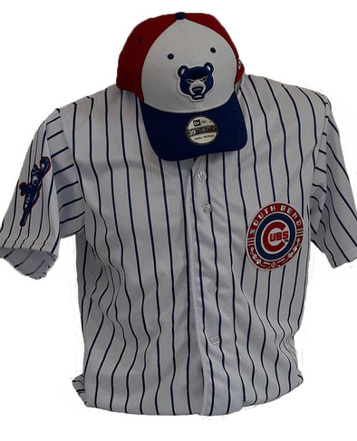 South Bend Cubs Men's Replica Pinstripe Jersey Button Front