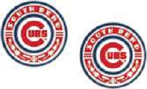 South Bend Cubs Post Earrings Primary Logo