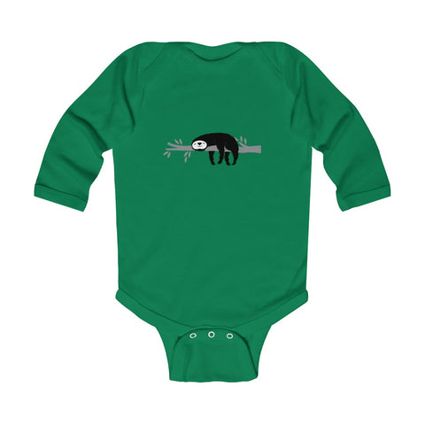 Sleeping Sloth Infant Long Sleeve Bodysuit