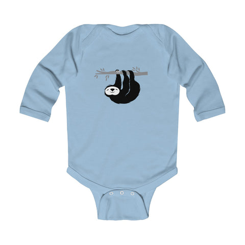 Hanging Happy Sloth Infant Long Sleeve Bodysuit
