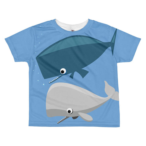 Whale Buddies All-over kids sublimation T-shirt