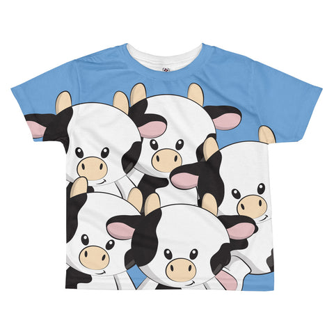 Blue Calf All-over kids sublimation T-shirt