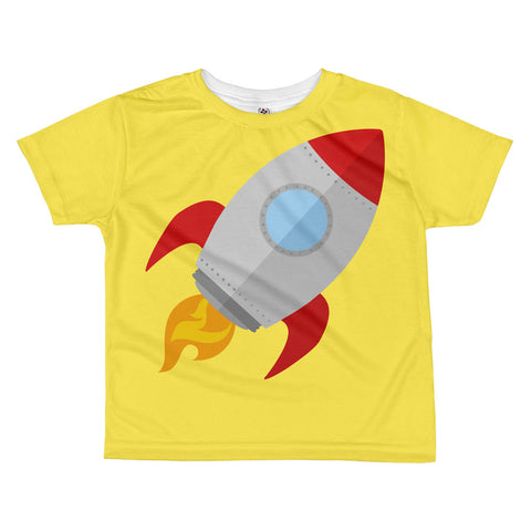 Yellow Rocket All-over kids sublimation T-shirt