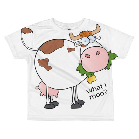 What I moo? All-over kids sublimation T-shirt