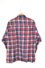 Load image into Gallery viewer, Vintage Plaid flannel Shirt Large L XL